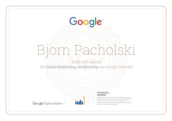 online marketing certificaat