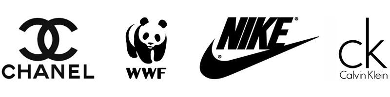 zwart in logo-ontwerp