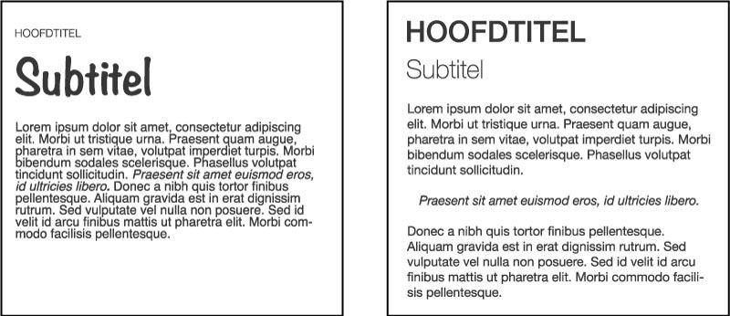 typografie in je huisstijl