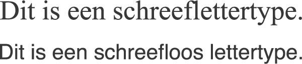 lettertypekeuze schreef of schreefloos