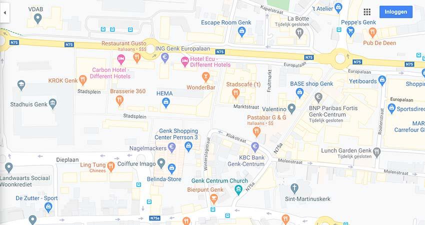 waarom verschijnt mijn locatie niet op de standaard google maps weergave